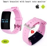 Le bracelet intelligent de sports avec le moniteur du rythme cardiaque et imperméabilisent