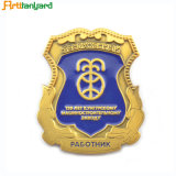 La polizia Badge con la timbratura dell'acciaio inossidabile