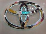 Teken van het Embleem van de Verkoop 2015 van de Luxe van de uitvoer het Correcte Openlucht Hete Roestvrije Verpakte 3D Auto