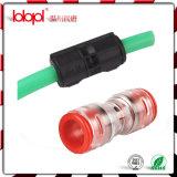 Connecteur en bonne santé de poussée rapide optique de fibre pour la pipe de FTTH 10/8mm