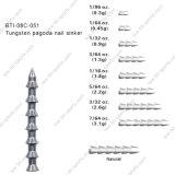Platina 08c-051 del chiodo del Pagoda del tungsteno del peso del tungsteno