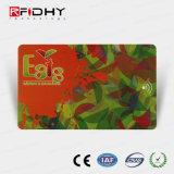 Impressão personalizada regravável cartão plástico RFID para controle de acesso