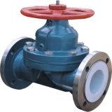 Weir Forro de tipo de válvula de diafragma PFA para químicos