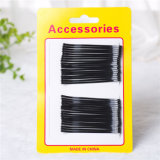 Lady Fashion Card Packed Black Metal Hair Accessories (JE1042)