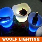 Potenciômetro de flor de plástico Potenciômetro de flor personalizado LED Clear Flower Pot