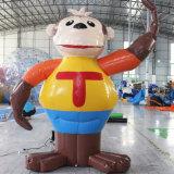 광고를 위한 팽창식 만화 팽창식 원숭이
