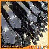 Lanza con recubrimiento en polvo de aluminio de máxima seguridad valla