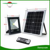 최고 밝은 50W 원격 제어 태양 LED 플러드 빛 정원 거리 안전 스포트라이트