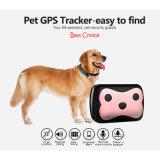 Mini collari impermeabili dell'inseguitore di GPS per gli animali domestici dei gatti dei cani
