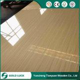 madera contrachapada impermeable brillante blanca del poliester de 1220X2440m m para decorativo