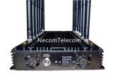 Nieuwe Desktop 14 de Stoorzender WiFi van Banden met de Lader van de Auto, de Mobiele Stoorzender van de Telefoon voor 3G, Cellulaire 4glte, GPS, Stoorzender Lojack/Blocker