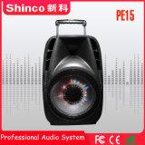 Shinco 15 van de Draadloze van de Karaoke Bluetooth Duim Spreker van het Karretje met LEIDEN Licht