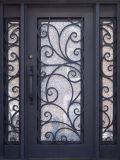 Sidelitesの優雅な鋼鉄単一の鉄の前ドア