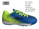 De blauwe Voetbalschoenen van de Kinderen Pu van de Kleur