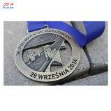 マラソンのためのロゴの金属メダルをカスタマイズしなさい