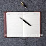A5 Business Office Organizer Bloc de notas de cuero, cuero diario para regalo