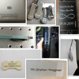 Marcador para metais, placa de identificação do laser da fibra, medalhas que gravam