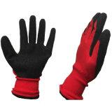 Цельновывязанное изделие с покрытием из латекса Black-Red нейлон рабочие перчатки