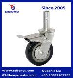 5インチの旋回装置産業PUの足場の足車の車輪