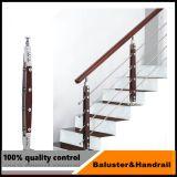 Balcon extérieur en acier inoxydable de balustrades de la main courante