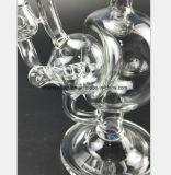 Tuyau d'eau en verre transparent pour le filtre du tuyau de recyclage du tabac