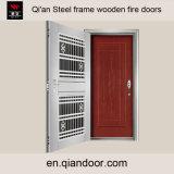De houten Deur van de Brand met Deur van het Kostuum van het Frame van het Roestvrij staal de Dubbele