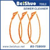 Vlekkenmiddel van de Belemmering van het Haar van de Slang van het Afvoerkanaal van 9.6 Duim het Plastic Schonere