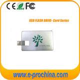 Mecanismo impulsor de la tarjeta de crédito del flash del USB del disco del USB con insignia de encargo
