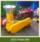 平らな22HPは販売のためのディーゼル運転された木製の餌の製造所を停止する