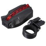 5 LED 2 Farben-hinteres Fahrrad-Endstück-Licht der Laser-Fahrrad-Licht-Laser-Firmenzeichen-intelligente Sicherheitslampe-3