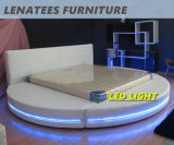 A542 Meuble à lit rond avec lumière LED