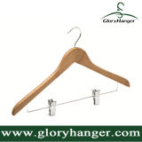 Venda por atacado barato de bambu cabides com barra de calça