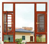 Prueba de antirrobos de aluminio ventanas con mosquitera