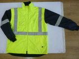 Hi видимость полиэстер Оксфорд 6 в 1 куртка с светоотражательная лента