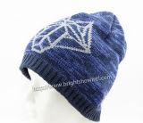 뜨개질을 한 모자를 뜨개질을 하는 베레모가 100%Acrylic에 의하여 뜨개질을 했다