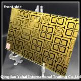 стекло 4mm золотистое желтое декоративное с сжатым типом