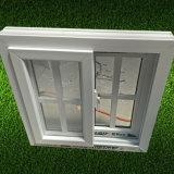 Schiebendes Fenster des weißer Rahmen-grünes Glas-UPVC für ökonomisches Haus
