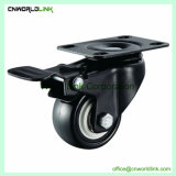 Acier noir type différent de la roue de PU pour charge lourde