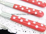 Bestek van het Roestvrij staal van het Handvat van het Ontwerp van Nice van het Bestek van het Handvat van pp het Plastic