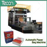 Máquina de alta velocidad y llena de la producción de la bolsa de papel de la válvula automática