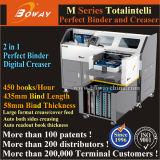 Boway 450권의 책 또는 시간 디지털 Creaser 및 최신 접착제 책 바인더 의무 기계