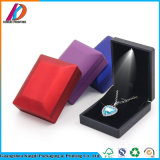 LED 반지 목걸이 팔찌 보석 포장을%s 우단 삽입을%s 가진 가벼운 PU 가죽 선물 상자
