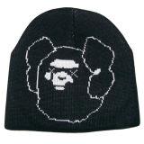 ニースのロゴNTD16eの白黒編まれた帽子