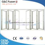 Haute qualité avec la porte pliante en aluminium d'usine en verre