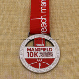 De Medaille van de Looppas van Mansfield van het Metaal van het Medaillon van het Ontwerp van Uniqe 5k 10k