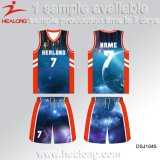 Healong Teamwearのためのカラー新しいデザインバスケットボールジャージー