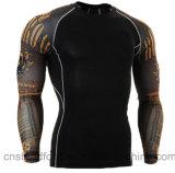 Usura lunga calda di T-Shrit di sport di compressione di ginnastica di forma fisica del manicotto di Saling