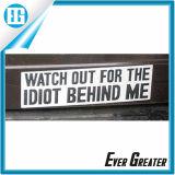 Cerrar adhesivo etiqueta engomada del coche del vinilo de la etiqueta de parachoque