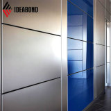 Poliéster Shopping Ideabond panel interior de aluminio plateado.