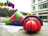 Juego inflable del túnel del gusano de la fruta
